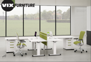 office design 150m2 with light tones