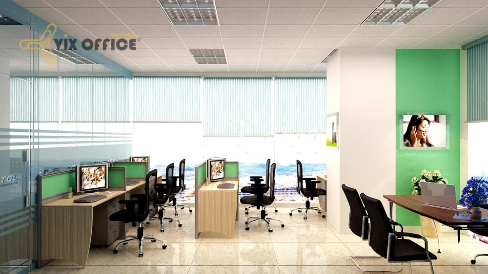 Office furniture does'nt lack of tables and chairs