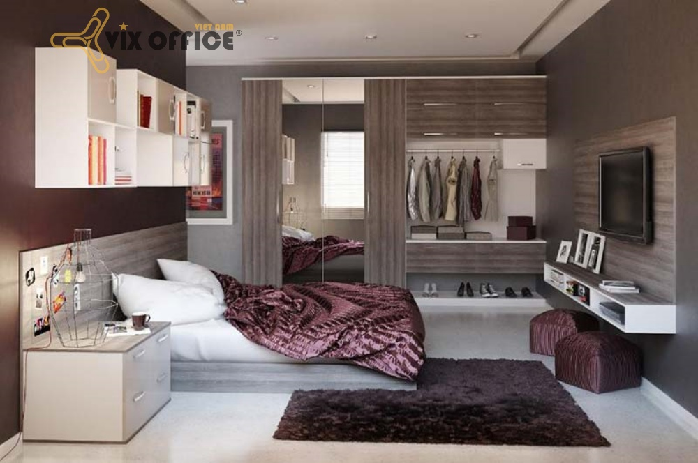 Functional equipment for the bedroom including beds, wardrobes…