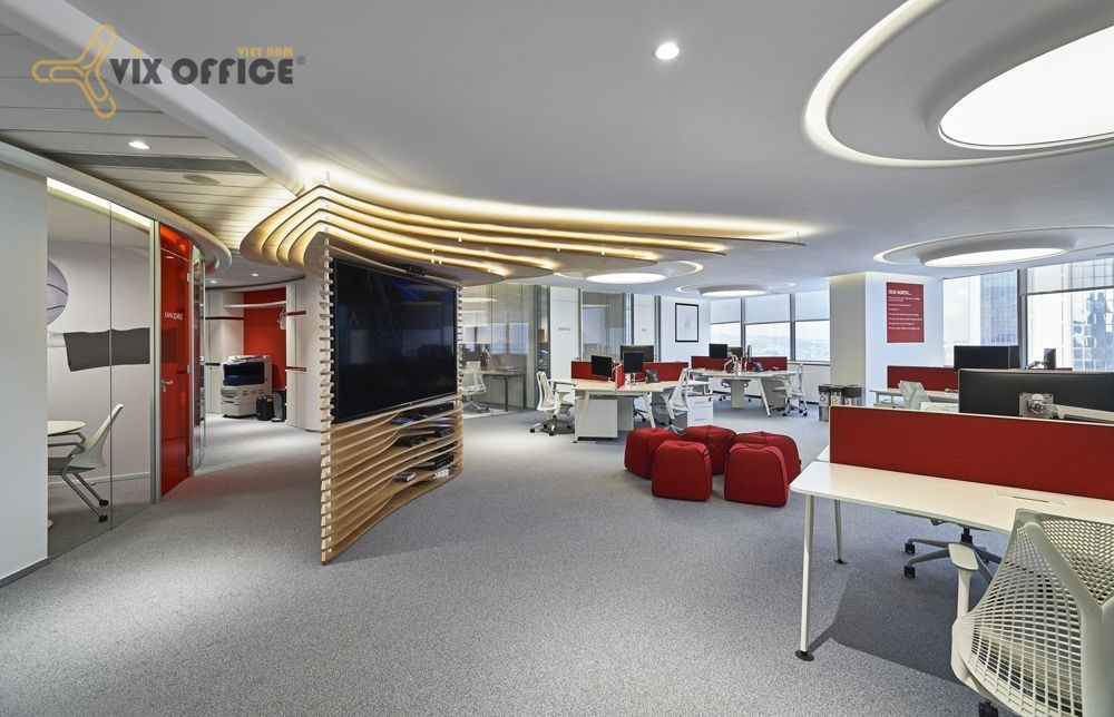 Five steps for completing the office interior design. office interior design in Ho Chi Minh City
