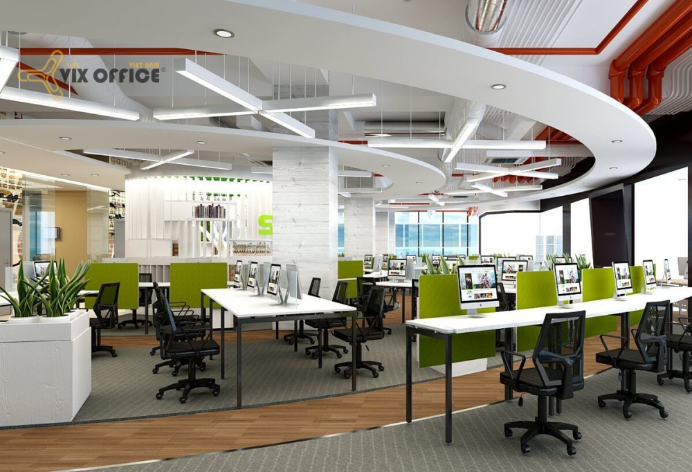 Office interior design and construction in Ho Chi Minh City