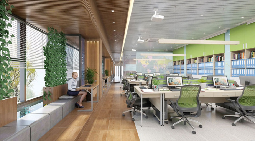 2D office design in enterprises and more busniness
