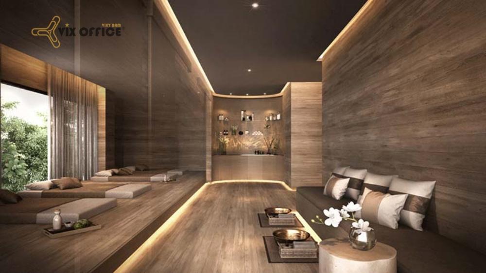 Luxury spa interior design, targeting high-class customers